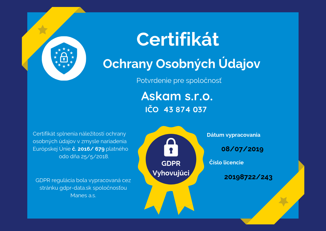GDPR certifikát